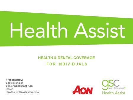 HEALTH & DENTAL COVERAGE FOR INDIVIDUALS