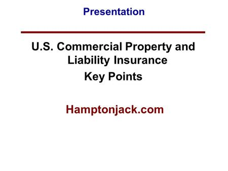 Business Insurance-Introduction - PowerPoint PPT Presentation