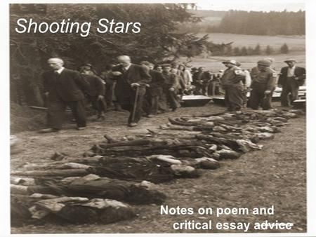 Shooting Stars by Carol Ann Duffy Essay Sample