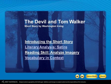 p the devil and tom walker by washington irving ppt the devil and tom walker