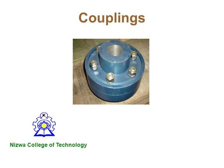 Couplings Nizwa College of Technology.