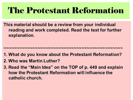 humanism and the renaissance protestant reformation essay Protestant reformation causes and results essay writing service, custom protestant reformation causes and results papers  were humanism.