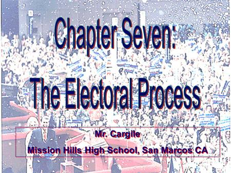 Presentation Pro Mr. Cargile Mission Hills High School, San Marcos CA Mr. Cargile Mission Hills High School, San Marcos CA.