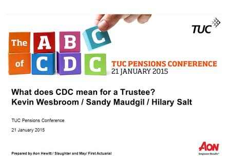 TUC Pensions Conference 21 January 2015