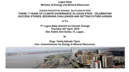 Lagos State Ministry Of Energy and Mineral Resources