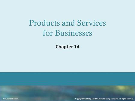 Products and Services for Businesses