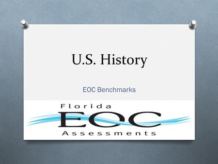U.S. History EOC Benchmarks. American : 40 SS.8.A.2.1 Compare the relationships among the British, French, Spanish, and Dutch in their struggle for colonization.
