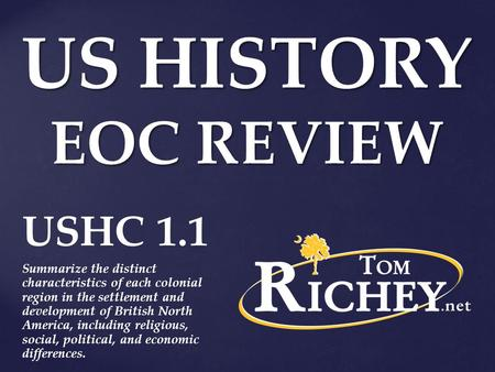 US HISTORY EOC REVIEW USHC 1.1