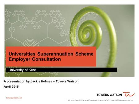 Universities Superannuation Scheme Employer Consultation