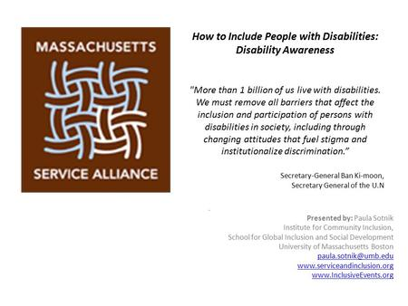 How to Include People with Disabilities: Disability Awareness