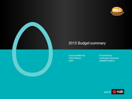 Presented by Firstname Surname Jobtitle/Position A presentation to Client Name Date 2015 Budget summary.