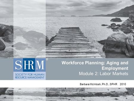 Workforce Planning: Aging and Employment Module 2: Labor Markets Barbara McIntosh, Ph.D., SPHR 2010.