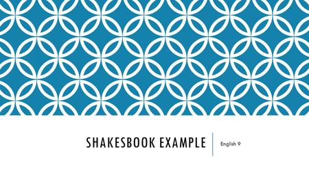 Shakesbook Example English 9.