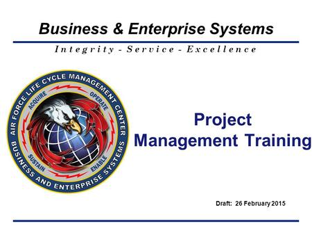 <strong>Project</strong> <strong>Management</strong> Training