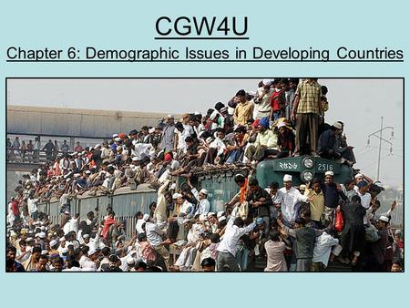 Chapter 6: Demographic Issues in Developing Countries