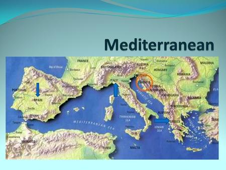 There are three European countries that lie along the Mediterranean Sea: Spain Italy Greece.