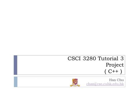 CSCI 3280 Tutorial 3 Project (C++)