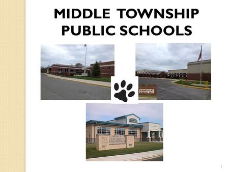 1 MIDDLE TOWNSHIP PUBLIC SCHOOLS. MIDDLE TOWNSHIP PUBLIC SCHOOLS BOARD OF EDUCATION Dennis Roberts, President George DeLollis, Vice President Calvin Back.
