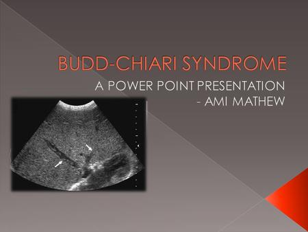A POWER POINT PRESENTATION - AMI MATHEW