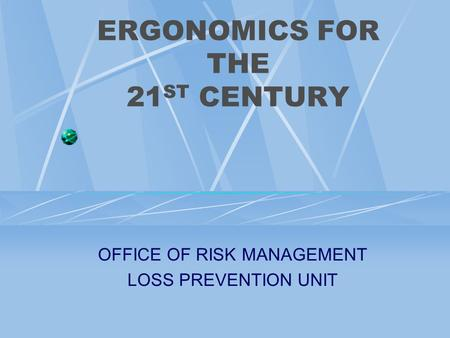 ergonomics risk management essay Ergonomics best practices for manufacturing ergonomics best practices  management is committed to the process, participates in the pro-cess and provides the necessary resources to ensure its success  • train the work force to be more aware of ergonomic risk fac.