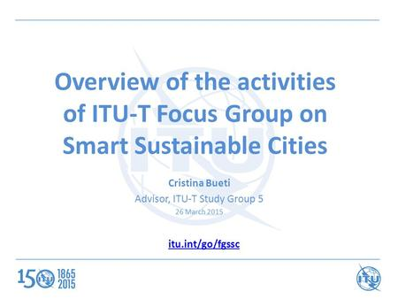 Advisor, ITU-T Study Group 5