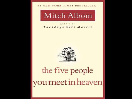 The Five People You Meet in Heaven From the title, what do you think the book will be about? What initially grabs your attention in the book?