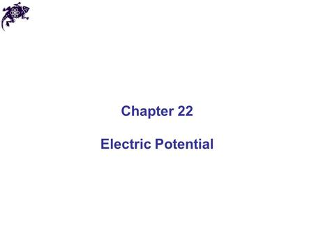 Chapter 22 Electric Potential.
