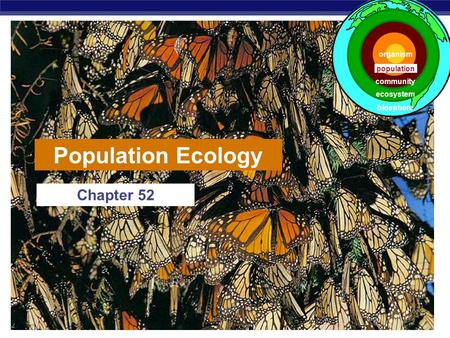 Population Ecology Chapter 52 organism population community ecosystem