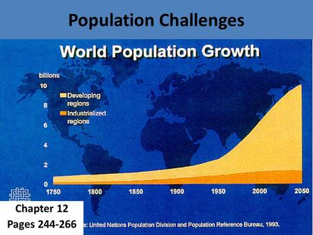 Population Challenges Chapter 12 Pages 244-266. 12.1: Students will describe patterns in the distribution of Canada's population. Pages 252-255.