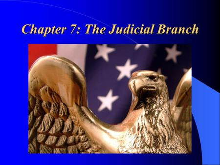 "Chapter 7: The Judicial Branch. ""The Federal Court System & How Federal Courts Are Organized"""