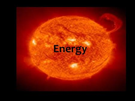 ENERGY Energy. What is energy? Energy is the ability to move something It is measured in Joules The symbol for Joules is J.