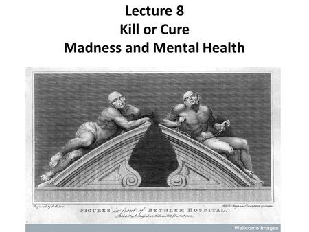 Lecture 8 Kill or Cure Madness and Mental Health.