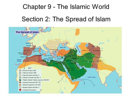 Chapter 9 - The Islamic World Section 2: The Spread of Islam.