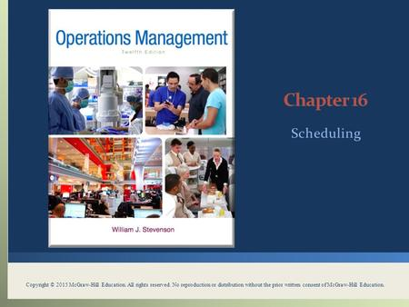 Chapter 16 Scheduling Scheduling