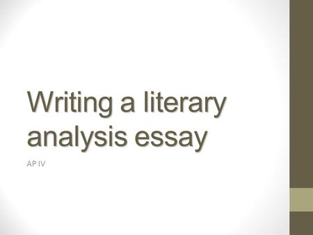 Literary Analysis Essay For Catcher In The Rye