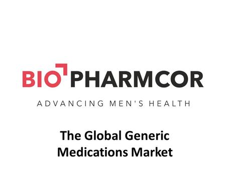 The Global Generic Medications Market