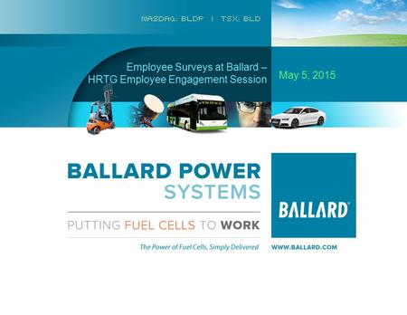 Page 1 Commercial Confidential Employee Surveys at Ballard – HRTG Employee Engagement Session May 5, 2015.