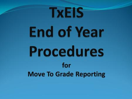 Verify that all required audit reports have been printed from TxEIS and stored for your records. SAT 0400 SAT0600 SAT0670 SAT0900 SAT1600 (not required)