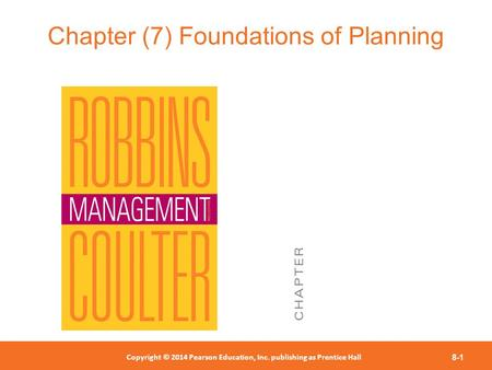 Chapter (7) Foundations of Planning
