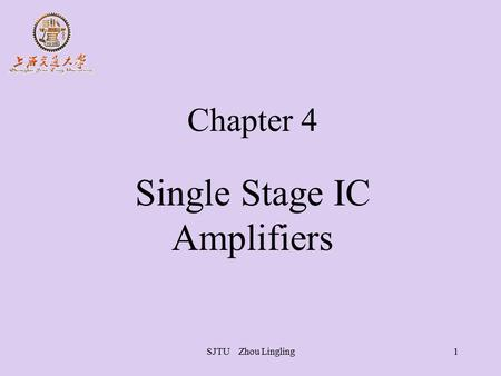 Single Stage IC Amplifiers