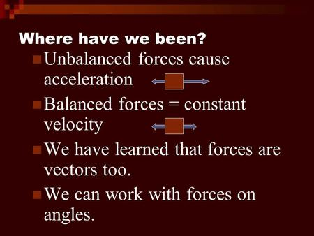 Unbalanced forces cause acceleration