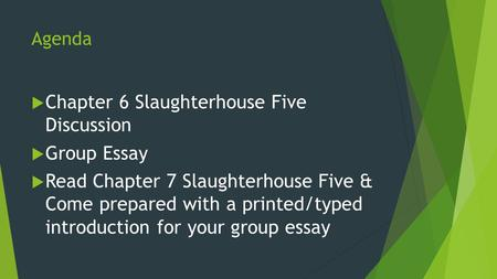 Slaughterhouse five essay questions
