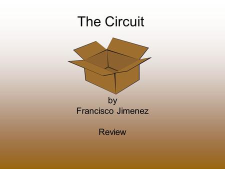 The Circuit by Francisco Jimenez Review. 1.Why is Panchito upset about the move to Fresno? Panchito does not like the thought of leaving familiar people.