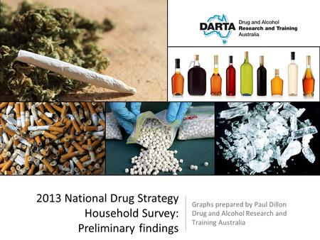 Graphs prepared by Paul Dillon Drug and Alcohol Research and Training Australia 2013 National Drug Strategy Household Survey: Preliminary findings.
