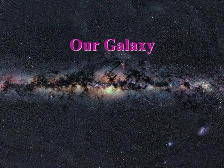 Our Galaxy. The Milky Way Revealed Our goals for learning What does our galaxy look like? How do stars orbit in our galaxy? REVIEW: Recall from our Introduction.