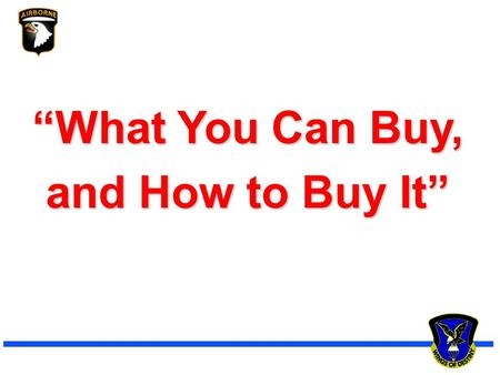 """What You Can Buy, and How to Buy It"""