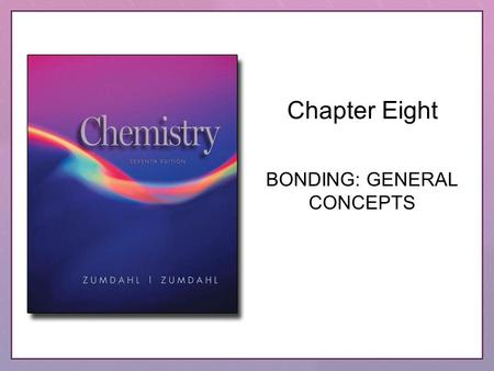 Chapter Eight BONDING: GENERAL CONCEPTS. Copyright © Houghton Mifflin Company. All rights reserved.8–28–2 Questions to Consider What is meant by the term.