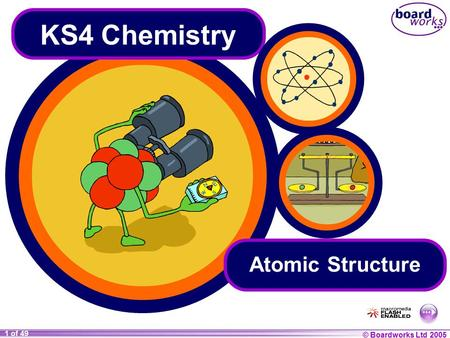 KS4 Chemistry Atomic Structure.