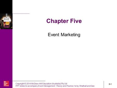 Chapter Five Event Marketing.