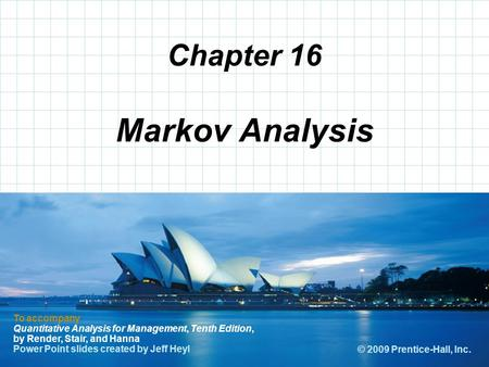 Markov Analysis Chapter 16